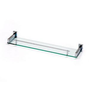 Single Glass Shelf With Rail