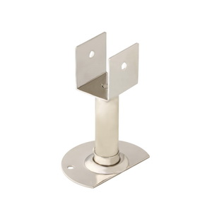 Stainless Steel Toilet Partition Adjustable Leg with SS Half Cover