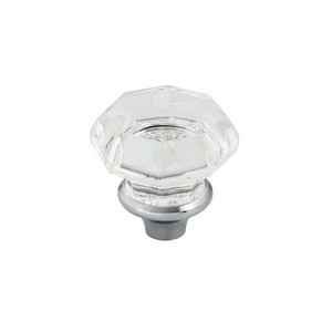 Octagonal Bathroom Crystal  Sink Faucet Knob