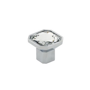 Square Glass Cabinet Knob With Zinc Die Cast Base