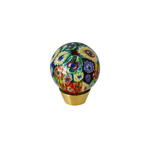 Furniture Hardware Handcraft Art Glass Round Knob