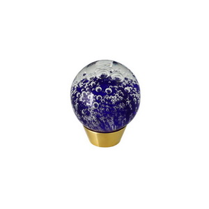 Kitchen Cabinet Handcraft Art Glass Round Knob